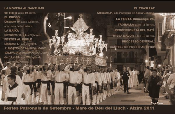 Cartel de las fiestas marianas de la ciudad de Alzira  - 2011